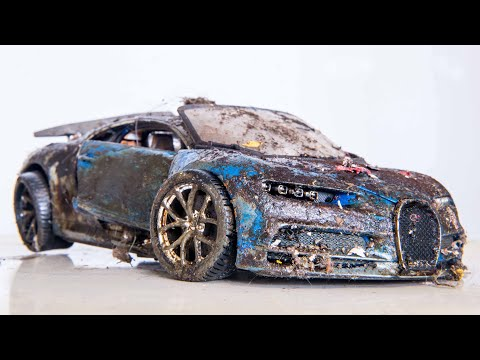 Bugatti Chiron 1:18 Restoration Abandoned Hypercar Model Car