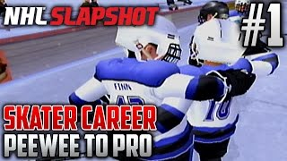 NHL Slapshot (Wii) | Peewee to Pro (Skater Career) | EP1 | ARE YOU GUYS READY?