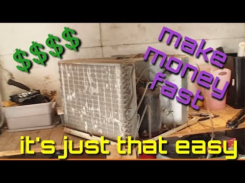How To Make Easy Money Scrapping Out An Air Conditioner Window Unit....is It Worth The Effort? 2018
