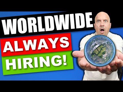 🔥26 WORLDWIDE🔥 Companies Always Hiring Work From Home Jobs Online