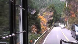 【西日本JRバス】 高雄京北線 前面展望 中川トンネル手前―(旧道)→小野下ノ町
