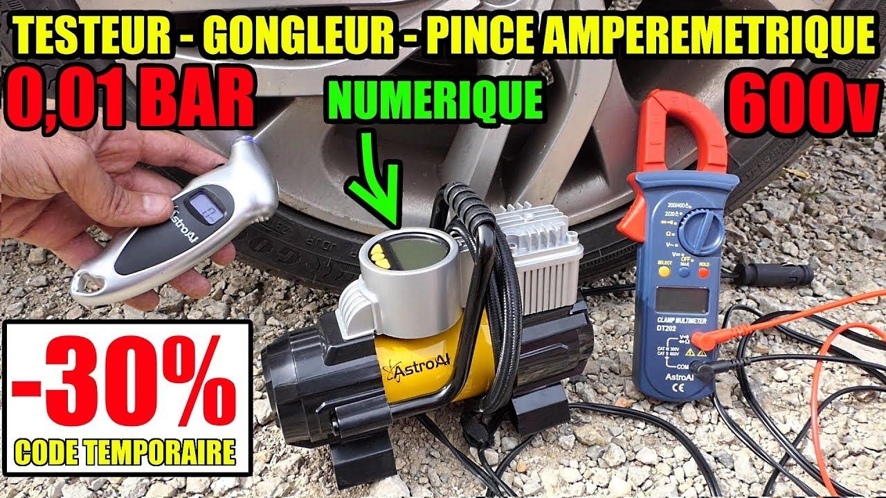 Astroai Testeur Mini Compresseur Gonfleur De Pneu 12v