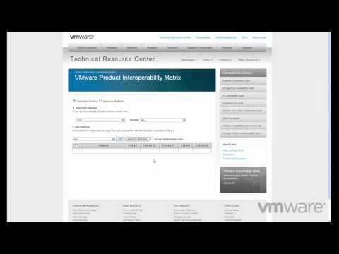 Introducing the VMware Product Interoperability Matrix
