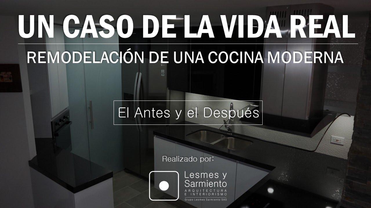 Remodelaciones de Cocinas Modernas Antes y Despues - YouTube