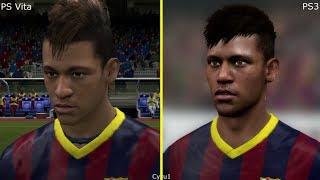 FIFA 14 PS Vita vs PS3 Graphics Comparison