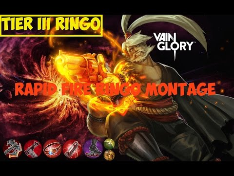 Vainglory Highlights - Shogun Tier 3 Rapid Fire Ringo Build Montage L Vainglorious Gameplay