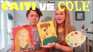 COUPLE PORTRAIT PAINTING CHALLENGE!!! *CAITI VS. COLE*