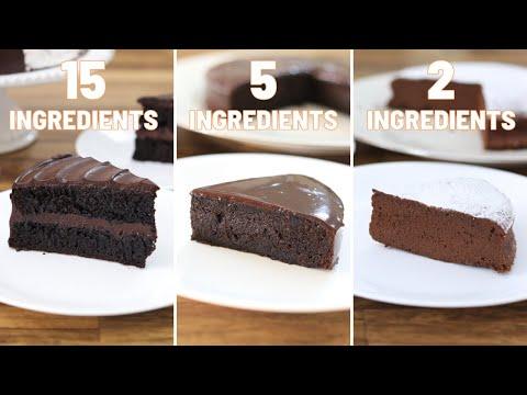 2-Ingredient vs. 5 Ingredient vs. 15 Ingredient Chocolate Cake