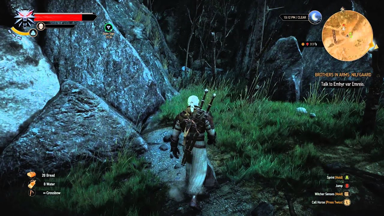 The Witcher 3 Act 2 Bald Mountain Place Of Power Quen Youtube