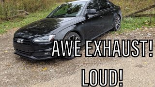 B8.5 audi s4 and b7 a4 exhaust review!