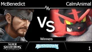Rushdown  - McBenedict (Snake) vs CalmAnimal (Incineroar) Winners - SSBU