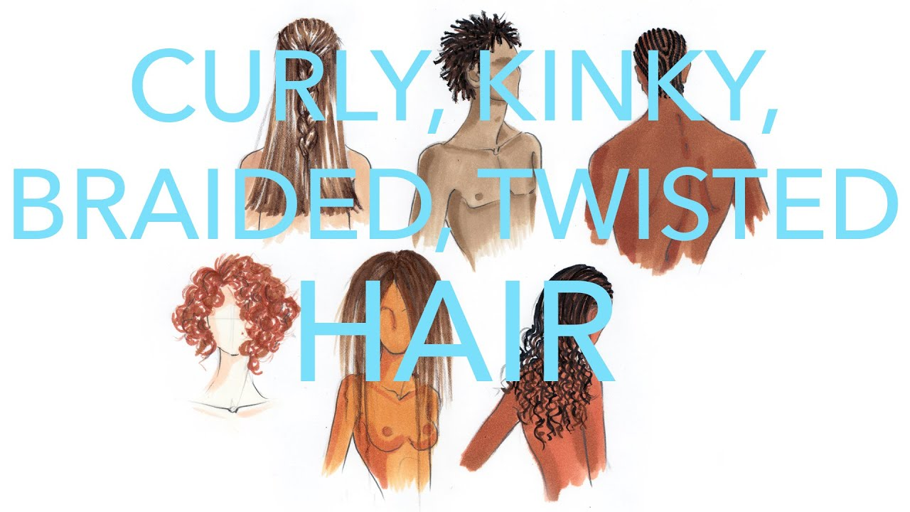 How To Draw And Illustrate Kinky, Braided, Dreaded, Curly Hair