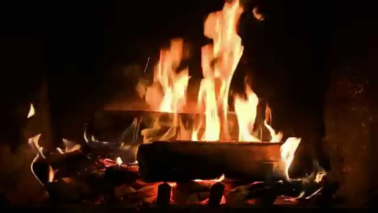 Romantic Fireplace with Crackling Fire Sounds (HD) - YouTube