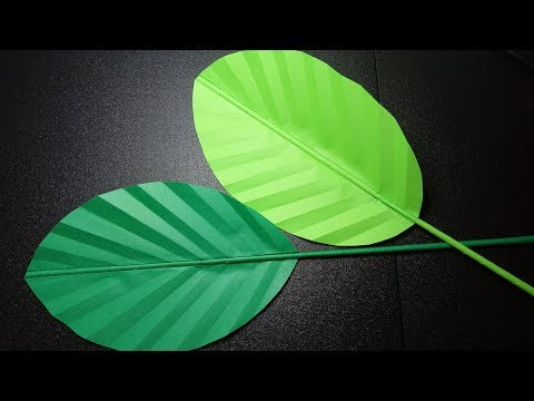 BIG PAPER LEAVES MAKING just by FOLDING | DIY WALL DECORATION | PAPER CRAFTS