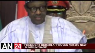PRESIDENT BUHARI APPROVES N30,000 NEW NATIONAL MINIMUM WAGE