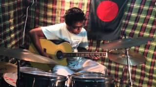 cholona ghure ashi drum guitar play