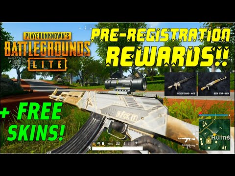 PUBG PC LITE | PRE-REGISTRATION REWARDS!! & HOW To REDEEM (FREE Skins And Outfits)