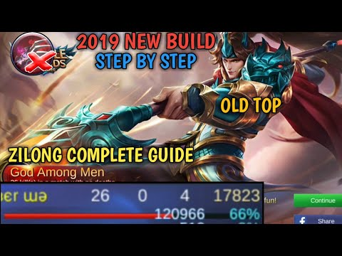 ZILONG 2019 BUILD | STEP BY STEP | COMPLETE GUIDE | MOBILE LEGENDS