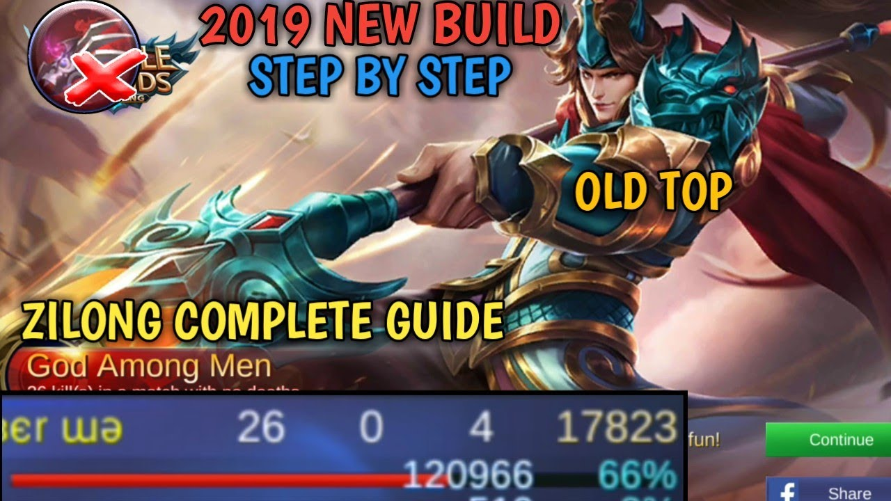 zilong 2019 build | step by step | complete guide | mobile