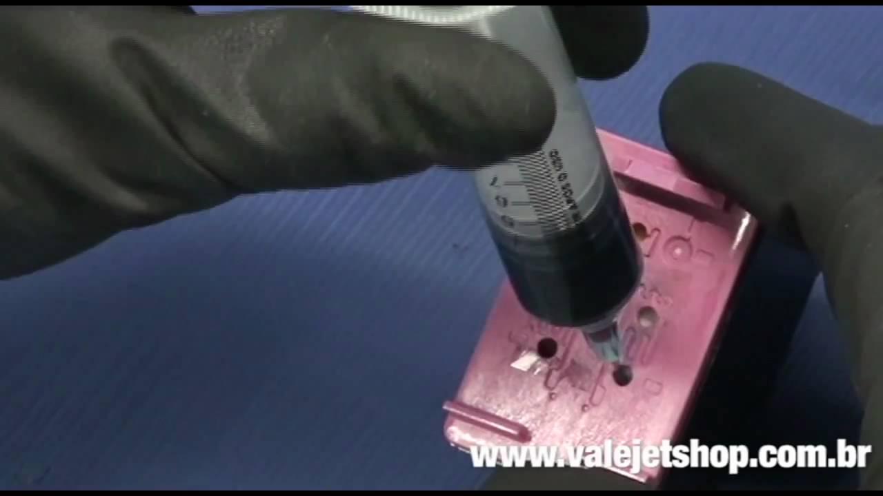 Video Recarga Cartuchos De Tinta HP 60 Preto E Colorido