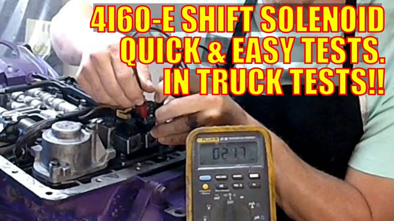 Gm 4l60 E Shift Solenoid Quick And Easy Test Sol A Sol B 1 2 2 3 Youtube