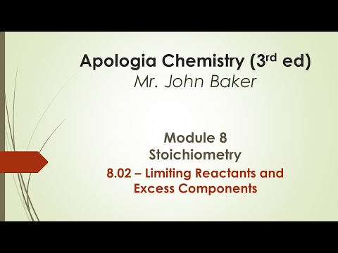 Chemistry  08.02 - Limiting Reactants and Excess Components