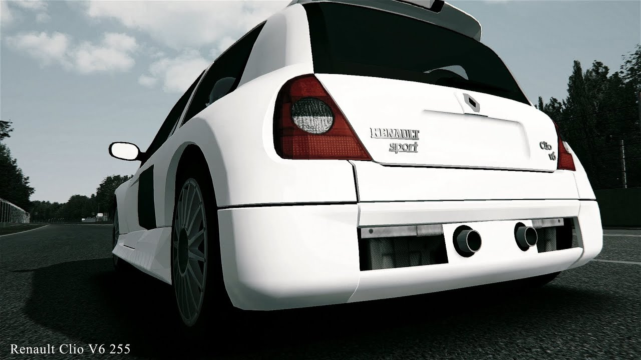 assetto corsa renault clio v6 255 exhaust sound youtube