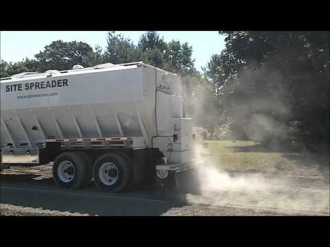 Mack Truck Spreading Cement in Birdsboro PA