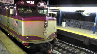 Disabled MBTA Train/LASH UP! at Rte128 Station (2/3/11)