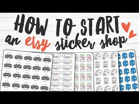 How to Start an Etsy Sticker Shop | Advice & Tips