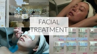FACIAL TREATMENT ROSE CRYSTAL LYMPHATIC FACIAL THE ORGANIC PHARMACY