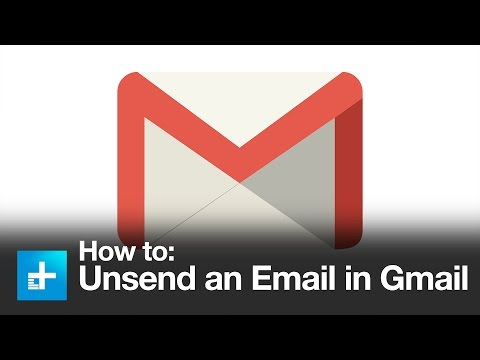 How to undo a sent email in gmail