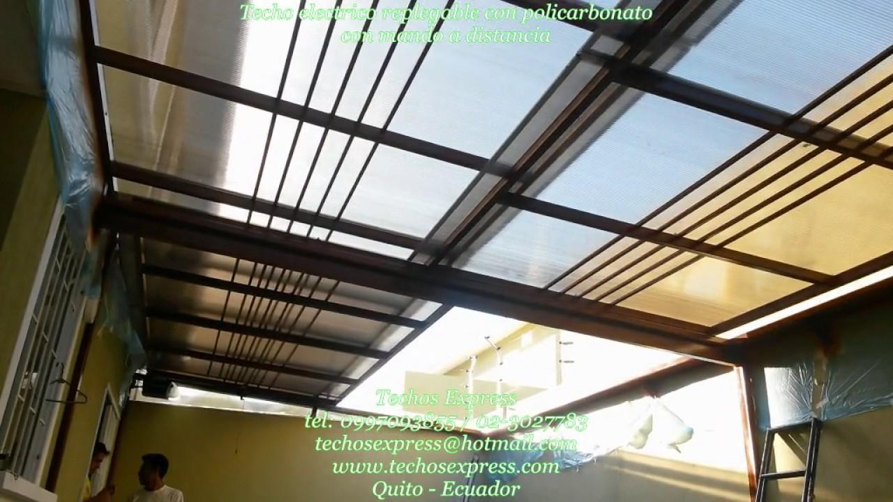 Techos express policarbonato pergolas cubiertas corredizas for Garajes con techos policarbonato
