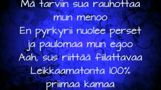 Cheek-Syypää sun hymyyn (lyrics)