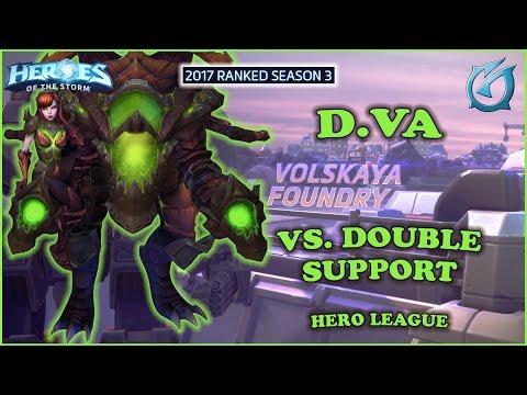 Grubby   Heroes of the Storm - D.Va - Vs. Double Support -  HL 2017 S3 - Volskaya Foundry