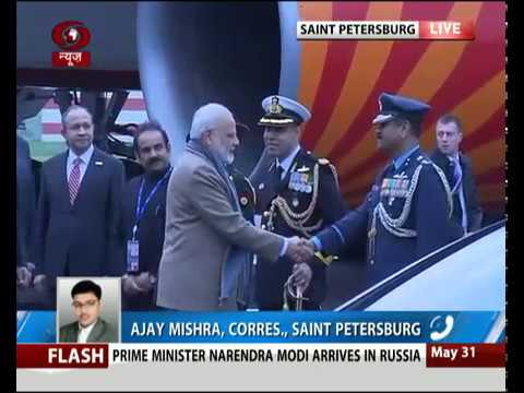 PM Modi arrives in Russsia