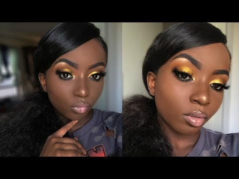 Glowy Summer Makeup For Chocolate Girls ✨🍯🍫| Young Africana