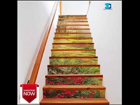 3d Scenery Stair Risers Stickers Set Staircase Decals Removable Waterproof Mural Wallpaper For Home