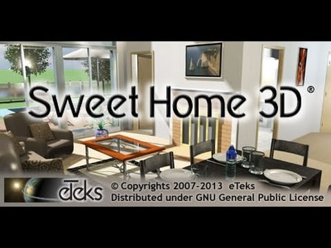 sweet home 3d haciendo una casa youtube. Black Bedroom Furniture Sets. Home Design Ideas