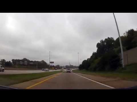 Driving from Lakewood to Parma, Ohio through Downtown Cleveland