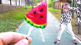 Sport vs Candy Ulya Takes a Lollipop for Sports Exercises | Stories for kids
