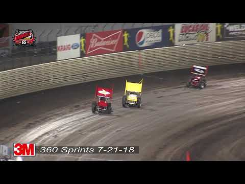 Knoxville Raceway 360 Highlights - July 21, 2018