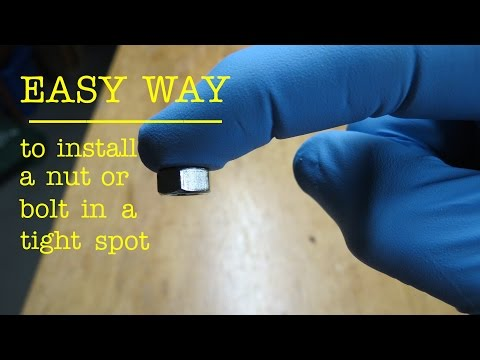 How to ● install a NUT in a tight spot
