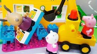 Свинка Пеппа разрушила школу. Плохая Пеппа Новые мультики Для детей Истории Игрушек