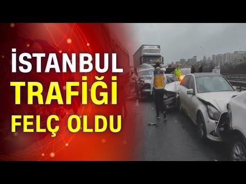 Son dakika! İstanbul TEM Otoyolu'nda zincirleme kaza!