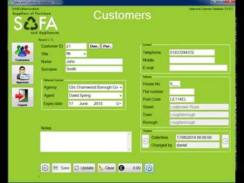 SOFA Sales and Customer Database alpha preview