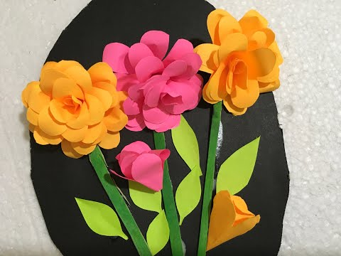 wall-hanging-flowers-|-how-to-make-wall-hanging-|-simple-wall-hanging-|-sreejas-craft-|-you-tube