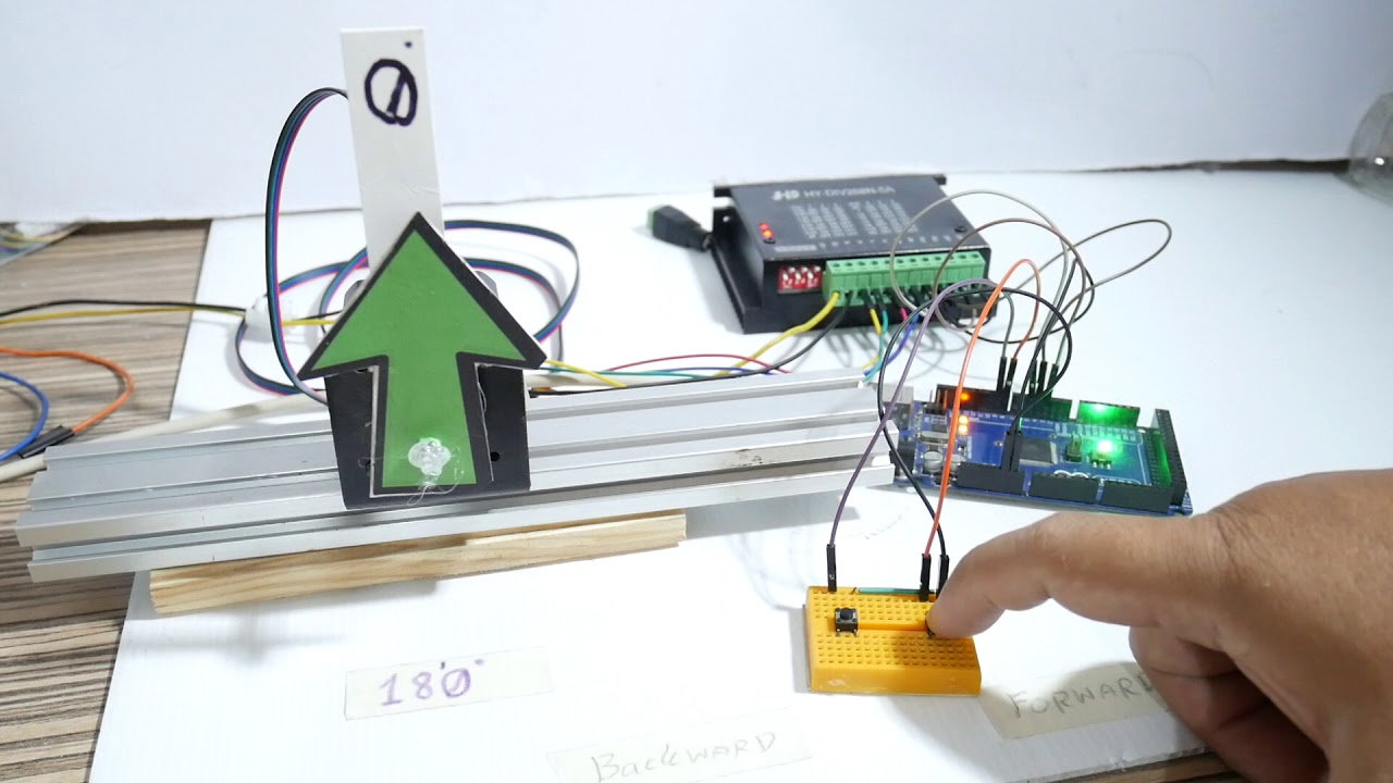 Stepper motor direction control using 2 buttons with the Arduino