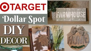 DIY FALL Farmhouse Home Decor | Target Dollar Spot DIY | Target Farmhouse DIY | KraftsbyKatelyn