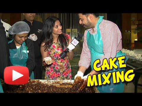 Cake Mixing - Christmas Special - Plum Cake with Dry Fruits & Rum - Hotel Orchid